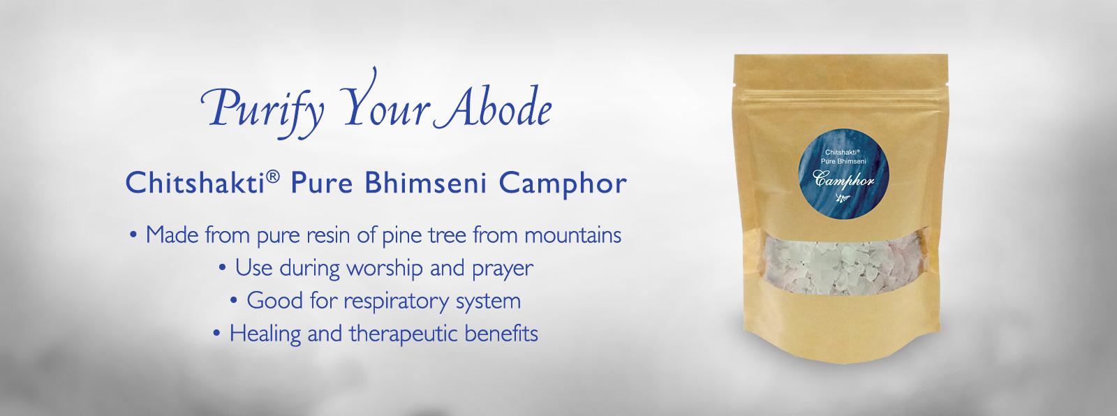 Chitshakti - Pure Bhimseni Camphor Banner